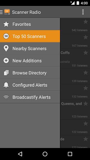 0 Scanner Radio App screenshot
