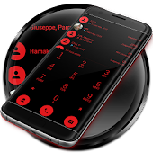Dialer theme Flat Black Red