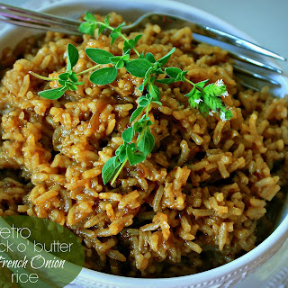"Retro ""Stick o' Butter"" Beefy French Onion Rice"