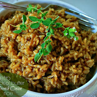 "Retro ""Stick o' Butter"" Beefy French Onion Rice."