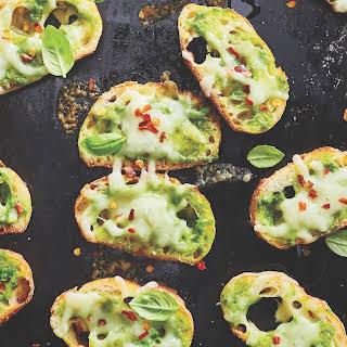 Easy Fontina Pesto Toasts.