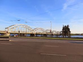 Photo: The train bridge over the Daugava river in Riga