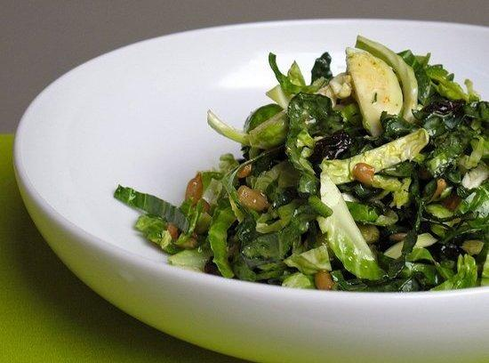Shredded Brussel Sprouts & Kale Salad Recipe