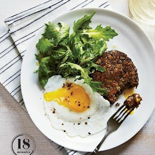 Weight Watchers Black Bean Cakes With Mixed Greens And Eggs
