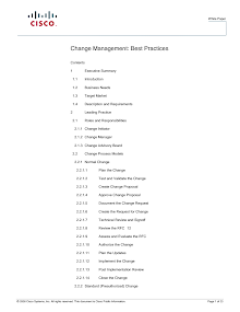 White Paper on Change Management - Cisco