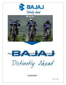 Bajaj Auto: Organizational Analysis