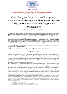 White Paper on Management Information System (MIS) in Medium Scale and Large Scale Organiz