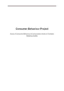 Consumer Behaviour Footwear Industry