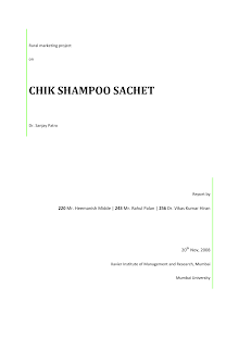 Rural Marketing Report on Chik Shampoo
