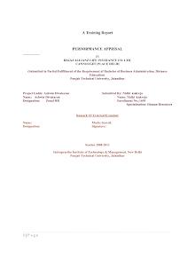 Blackbook project on performance appraisal
