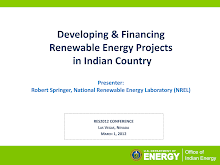Project on Financing Renewable Energy: Indian Country