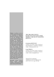 Case Study on Organizational Knowledge Dynamics (OKD) - Vodafone Romania