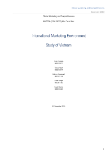 Global Marketing Study on International Marketing Environment