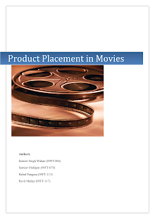 Research on Product Placement in Movies