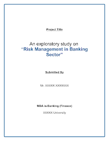 Study Reports on Risk Management in Banking Sector