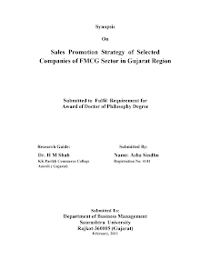 Study on Sales Promotion Strategy of Selected Companies of FMCG Sector