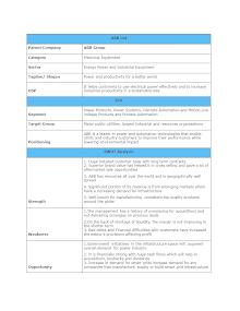SWOT ANALYSIS OF ABB LTD