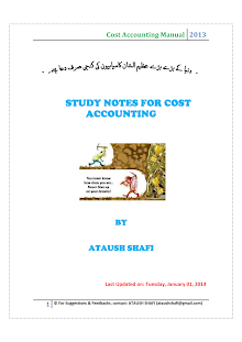cost accounting by ATAUSH SHAFI