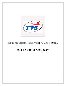 TVS Motor: Organizational Analysis