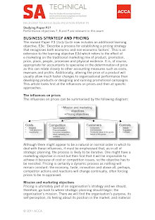 BUSINESS STRATEGY AND PRICING
