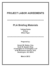 Whitepaper for Project Labor Agreements