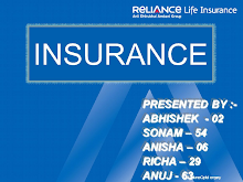 PROJECT ON RELIANCE LIFE INSURANCE
