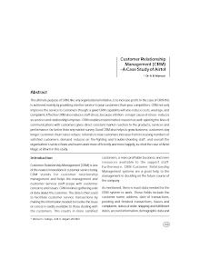 White paper on Customer Relationship Management - Airtel