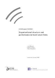 White Paper on Organizational structure and performance in Dutch small firms