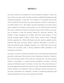 blackbook project on ayurvedic industry
