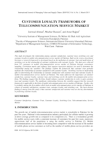 Study on Telecommunication Service Market - Customer Loyalty