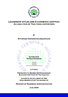 Study Report on Leadership styles and E-commerce adoption