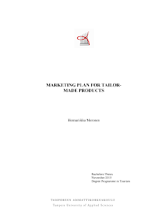 Study on Marketing Plan for Tailor made Products