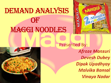 DEMAND ANALYSIS OF MAGGI NOODLE