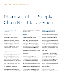Study on Current and Future Strategies in Pharmaceutical Supply Chain