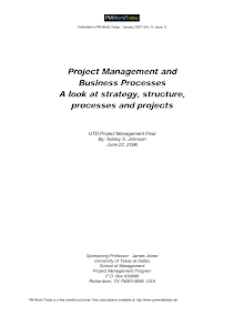 Project Management and Business Processes