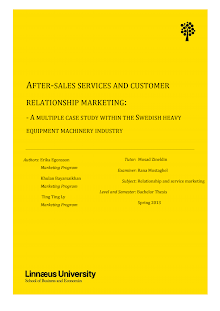 Study on After-Sales Services and Customer Relationship Marketing