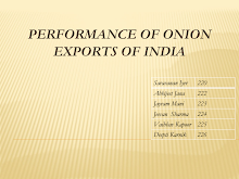 Performance of Onion Exports