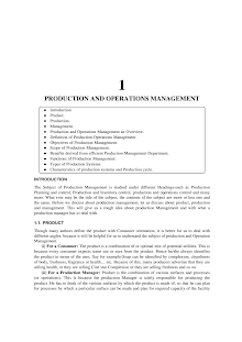 Study on Production and Operations Management