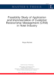Study on Application and Implimantation of CRM in Hotel Industry