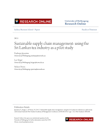 Sustainable supply chain management on Sri Lankan tea industry