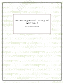 Contact Energy Limited - Strategy and SWOT Report