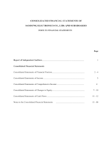 Consolidated Financial Statements  on Samsung Electronics Co., Ltd. and Subsidiaries