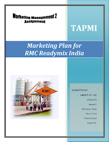 Marketing Plan for RMC Readymix India