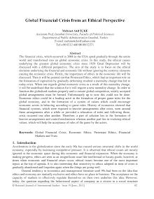 Study Report on Global Financial Crisis