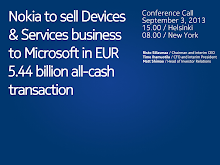 Nokia to sell Devices  & Services business to Microsoft in EUR 5.44 billion