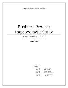 Business Process Improvement Study