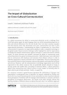 Study on Impact of Globalization on Cross-Cultural Communication