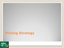 Pricing in Marketing