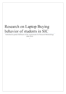 Research on Laptop buying behavior