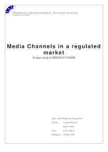 Study on Media Channels in Absolut Vodka